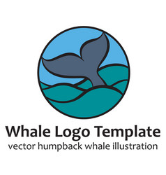 Whale tale vector