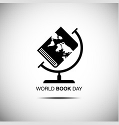 world book and copyright day logo icon flat vector image