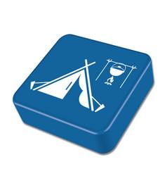 Tourist tent icon vector