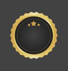 Golden and black luxury metallic badge template vector