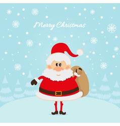 Santa claus the christmas card vector