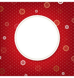 Abstract Red Background With Speech Bubble vector image