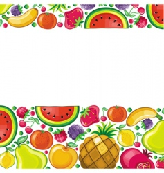 fruit background series vector image