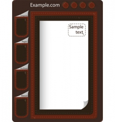 leather website vector image