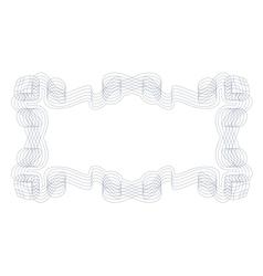 Decorative guilloche frame vector image