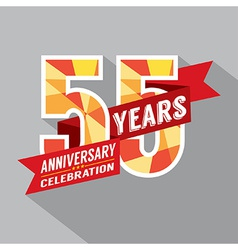 55th years anniversary celebration design vector