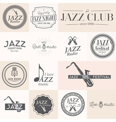 Jazz label vector