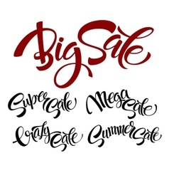 Set sale lettering vector