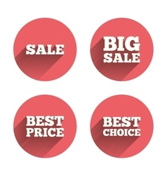Sale icons best choice price symbols vector