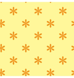 yellow seamless texture with flowers vector image