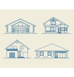 Houses linear 6 vector