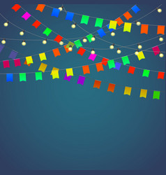 Festival background with garland vector