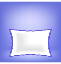 White soft pillow vector