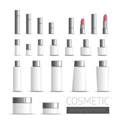 Templates cosmetics packaging vector