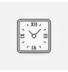 Retro clock in rounded squares vector