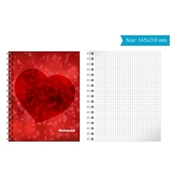 Cover template for notepad vector