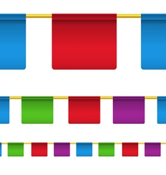 Rectangular flag banners vector