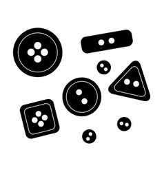 Buttons for clothessewing or tailoring tools kit vector