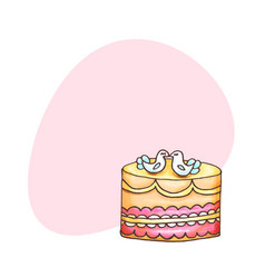 Cakes with place for text pastry and vector