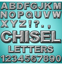 Chiseled letters vector