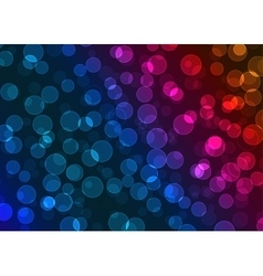 colorful bokeh vector image