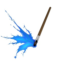 Colorful splash from brush vector image
