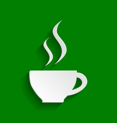 Cup sign with two small streams of smoke vector
