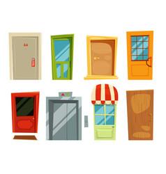 decorative doorway and different retro doors in vector image vector image