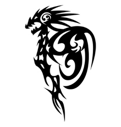 Dragon tattoo design vintage vector