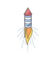firework rocket icon vector image