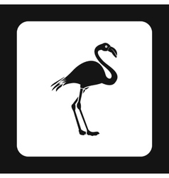 Flamingo icon simple style vector image vector image