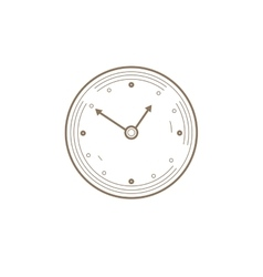Flat Line watch Icon Creative vector image vector image