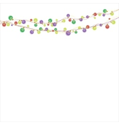 Garland color lights vector image