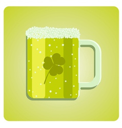 green beer glass vector image vector image