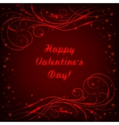 Happy Valentines day lettering greeting card with vector image