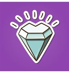 Heart shaped diamond stone vector