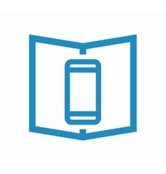 Logo combination of a book and phone vector