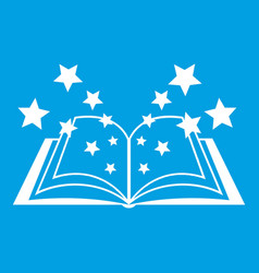 magic book icon white vector image