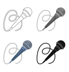 Microphone icon in cartoon style isolated on white vector