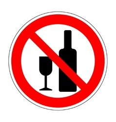 No drinking sign 1003 vector image vector image