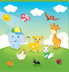 of animals vector image vector image