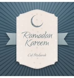 Ramadan kareem eid mubarak realistic banner vector