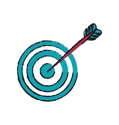 Round target dartboard vector