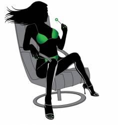 sexy female vector image