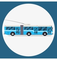 trolleybus icon flat design city vector image vector image