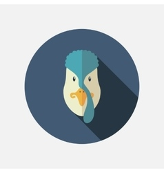 Turkey flat icon with long shadow vector