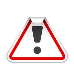Warning sticker vector