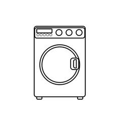 washing machine laundry vector image vector image