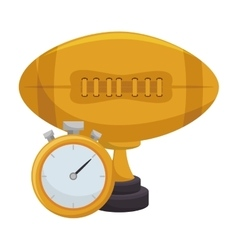 american football trophy award vector image