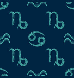Zodiac signs seamless pattern vector